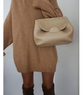 Maxi maglione beige