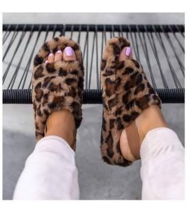 Ciabatte Pelosine Leopardato