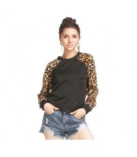 Pullover M. Leopard Nero